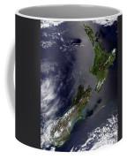 Satellite View Of New Zealand Coffee Mug
