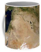 Satellite View Of The Middle East Coffee Mug