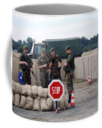 Scenery Of A Checkpoint Used Coffee Mug