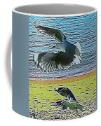 Sea Gulls In Flight  Coffee Mug