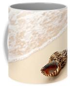 Seashell And Ocean Wave Coffee Mug by Elena Elisseeva