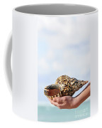 Seashell In Hand Coffee Mug