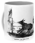 Secession Cartoon, 1861 Coffee Mug