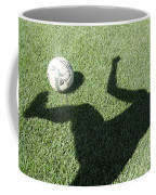 Shadow Playing Football Coffee Mug