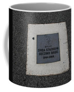 Shea Stadium Second Base Coffee Mug by Rob Hans