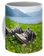 Shoes On The Green Grass Coffee Mug