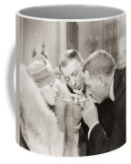 Silent Film Still: Smoking Coffee Mug