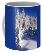 Snow-covered Pine Trees On Mount Hood Coffee Mug