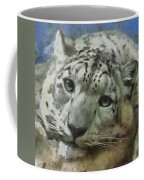 Snow Leopard Painterly Coffee Mug