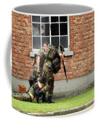 Soldiers Of The Belgian Army Helping Coffee Mug