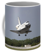 Space Shuttle Discovery Approaches Coffee Mug