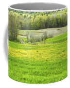 Spring Farm Landscape With Dandelion Bloom In Maine Coffee Mug by Keith Webber Jr