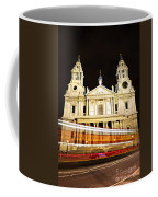 St. Paul's Cathedral In London At Night Coffee Mug