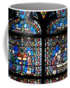 Stained Glass Window Of Notre Dame De Paris. France Coffee Mug