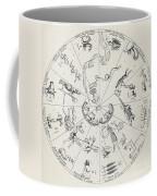 Star Map From Kirchers Oedipus Coffee Mug