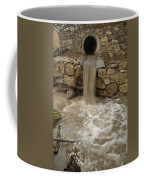 Storm Sewer Water Rushes Into A Stream Coffee Mug