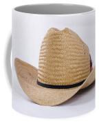 Straw Weave Cowboy Hat Coffee Mug