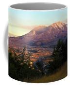 Sun Going Down At Mt. St. Helens Coffee Mug