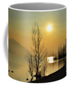 Sunlight Over A Lake Coffee Mug