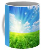 Sunny Spring Landscape Coffee Mug