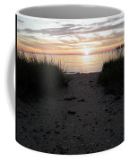 Sunset Through The Grass Cape Charles Virginia Coffee Mug
