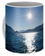 Sunshine Over An Alpine Lake Coffee Mug