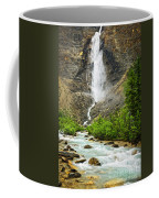 Takakkaw Falls Waterfall In Yoho National Park Canada Coffee Mug