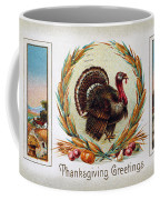 Thanksgiving Card, 1910 Coffee Mug