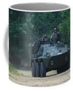 The Pandur Recce Vehicle In Use Coffee Mug