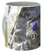 The Purple Heart Award Hangs Coffee Mug