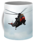 The Sea King Helicopter In Use Coffee Mug