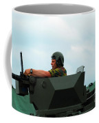 The Turret Of A Pandur Wheeled Armoured Coffee Mug by Luc De Jaeger