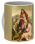 The Virgin And Child With A Saint And An Angel Coffee Mug by Andrea del Sarto