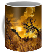 The Weight Of The Clouds In Sepia Coffee Mug