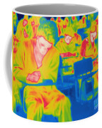 Thermogram Of Students In A Lecture Coffee Mug