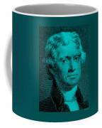 Thomas Jefferson In Turquois Coffee Mug