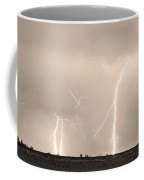 Thunderstorm On The Plains Bw Sepia Coffee Mug