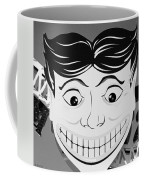Tillie The Clown Of Coney Island In Black And White Coffee Mug