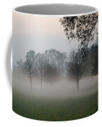 Trees And Fog Coffee Mug