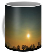 Trees And Sun In A Foggy Day Coffee Mug