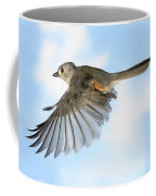 Tufted Titmouse In Flight Coffee Mug by Ted Kinsman