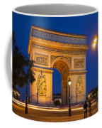 Twilight At Arc De Triomphe Coffee Mug