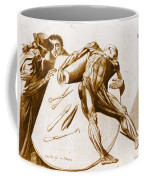 Two Gentlemen Contemplating A Cadaver Coffee Mug by Science Source
