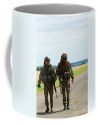 Two Snipers Of The Belgian Army Dressed Coffee Mug by Luc De Jaeger