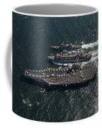 Underway Replenishment At Sea With U.s Coffee Mug