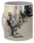 U.s. Army Soldiers Providing Security Coffee Mug by Stocktrek Images