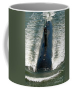 U.s. Navy Sailors Man A Topside Watch Coffee Mug