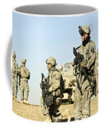 U.s. Soldiers Conduct A Combat Patrol Coffee Mug