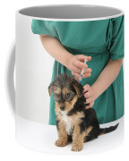 Vet Giving Pup Its Primary Vaccination Coffee Mug