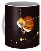 Voyager Saturn Flyby Artwork Coffee Mug by Science Source